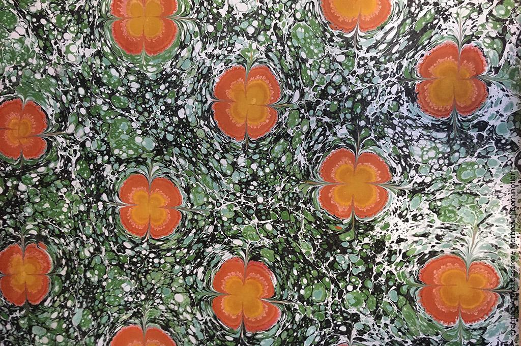 marbrure-papier-vert-orange-jaune-anne-lasserre