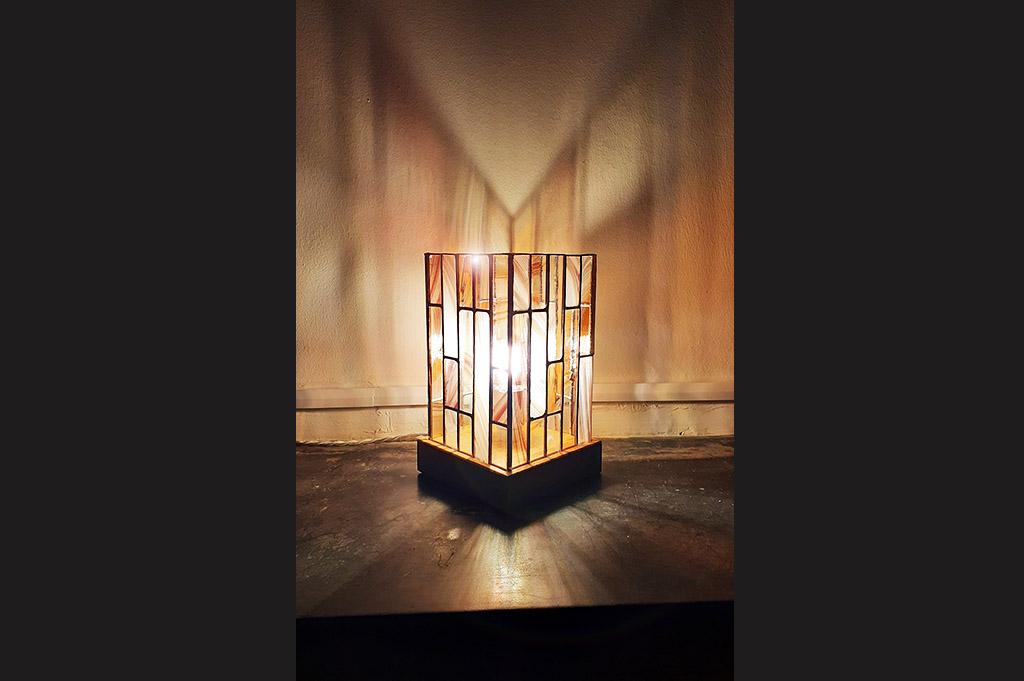 Lampe, vitrail, Emilie Castanier Vitrailliste